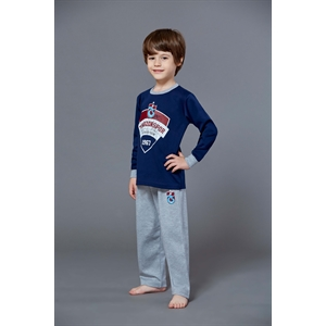 Trabzonspor Licensed Navy Blue Pajamas Male Waiter Team