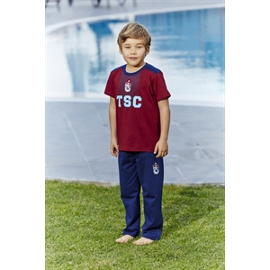 Trabzonspor Licensed Team Young Boys Pajamas Burgundy