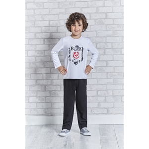 BEŞİKTAŞ Besiktas Young Boys Licensed Sleepwear-Team White