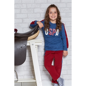 US POLO Licensed Teen Girl Pajama Outfit US Polo Navy Blue