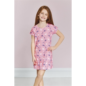 US POLO Young Girl Nightgown Pink US Polo Licensed