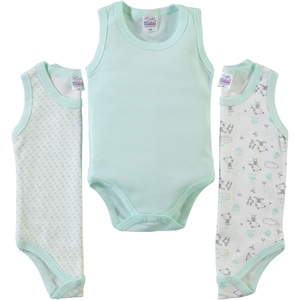 Misket Baby girl 3-way Bodysuit with snaps mint green 0-12 months
