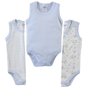 Misket Baby girl 3-way Bodysuit with snaps 0-12 months, blue