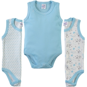 Misket Baby girl 3-way Bodysuit with snaps 0-12 months Turquoise