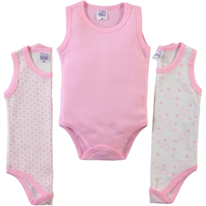 Misket Baby girl 3-way 0-12 months Pink Bodysuit with snaps