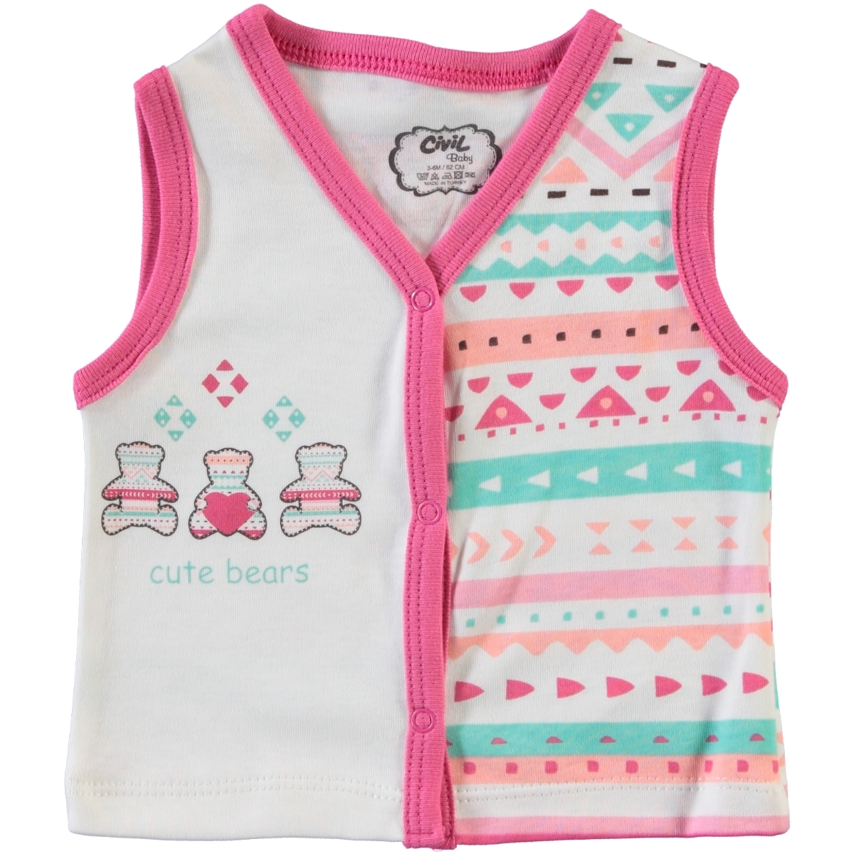 Civil Baby 1-9 Months Baby Girl Vest, Tongue In Cheek