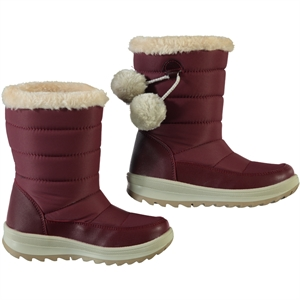 Polact Numbers 31-35 Burgundy Pompom Boots Girl
