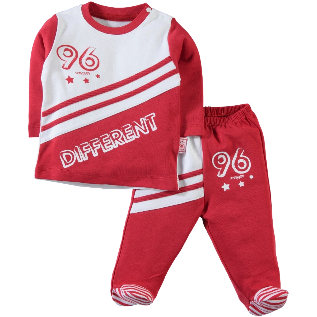 Kujju 3-18 Months Baby Boy Red Suit