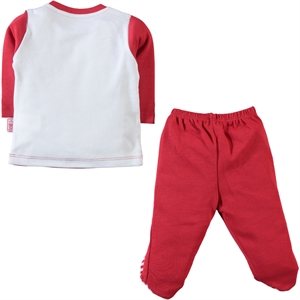 Kujju 3-18 Months Baby Boy Red Suit (2)
