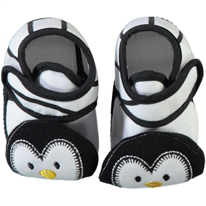 Minidamla Newborn Baby Booties Black