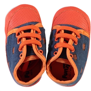 Funny Baby Baby Boy Lace-Up Booties 16-20 Orange Number