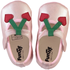 Funny Baby Powder Pink Baby Girl Booties 16-20 Number
