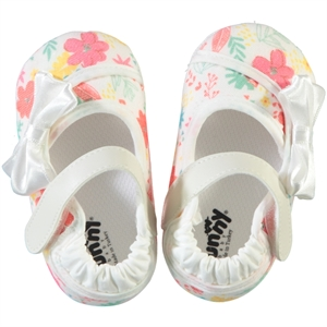 Funny Baby 16-20 Baby Girl Booties Ecru With Bow Number