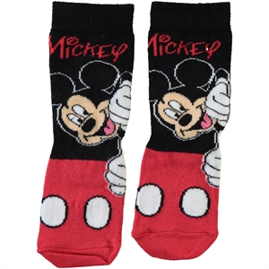 Mickey Mouse Black Boy Socks Ages 3-7