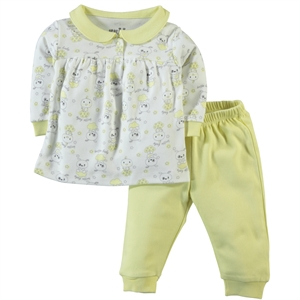 Kujju A Pajama Outfit 3-18 Months Baby Girl Yellow