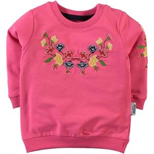 Kujju Baby Girl 6-18 Months Fuchsia Sweatshirt