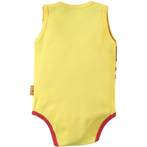 Kujju 3-9 Months Baby Boy Yellow Bodysuit With Snaps (3)