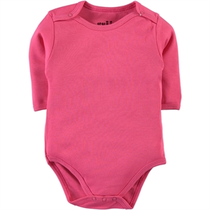 Kujju 0-1 Months Combing Fuchsia Bodysuit With Snaps