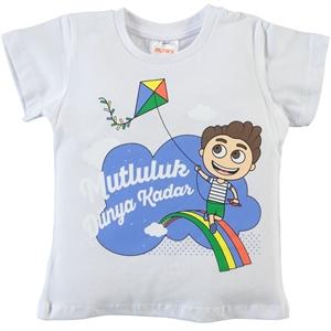 Minky Boy Tshirt White 2-5 Years