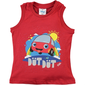 Düt Düt Boy T-Shirt Red Age 2-5