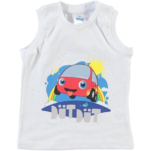 Düt Düt Boy T-Shirt White 2-5 Years