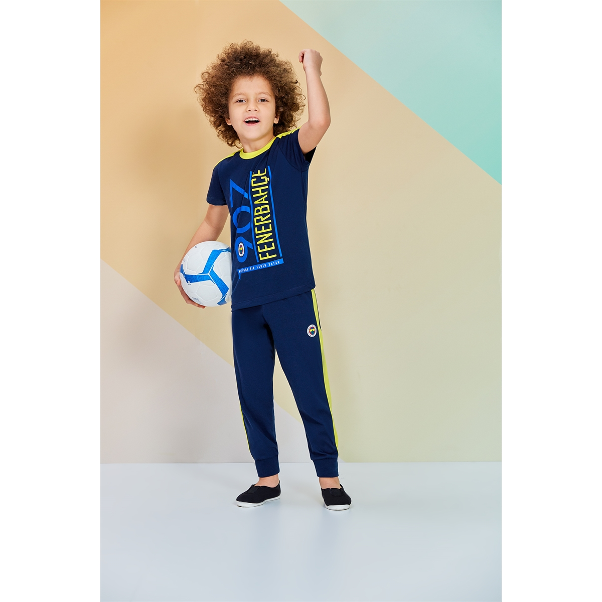 Fenerbahçe Licensed Team Young Boys Pajamas Navy Blue