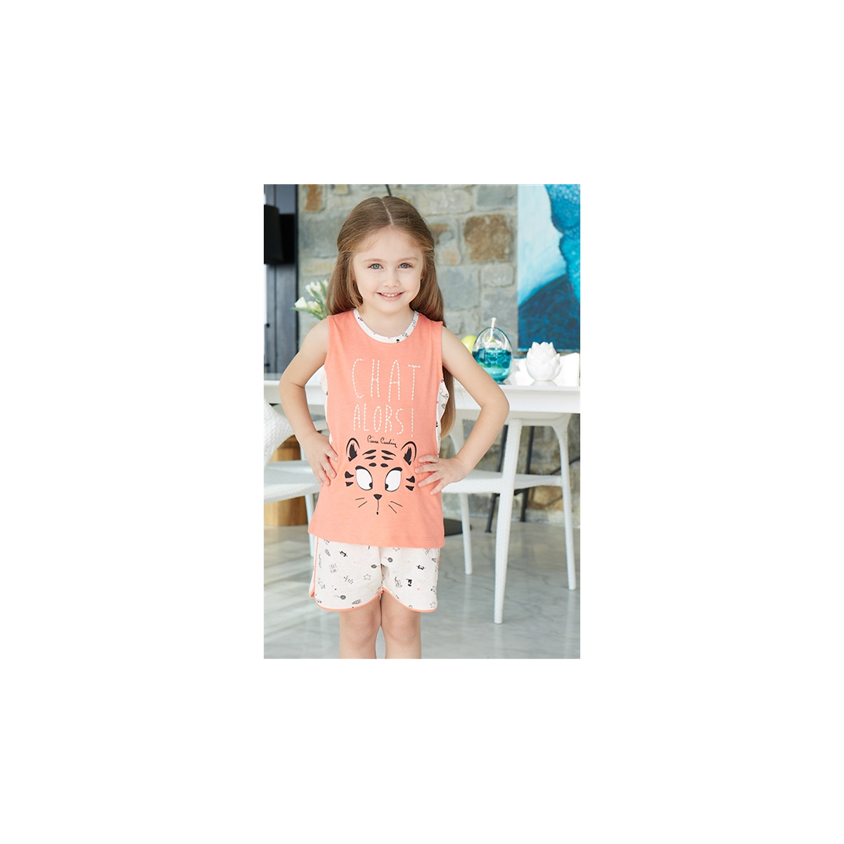 Pierre Cardin Young Girl Shorts Light Tan Suit Licensed