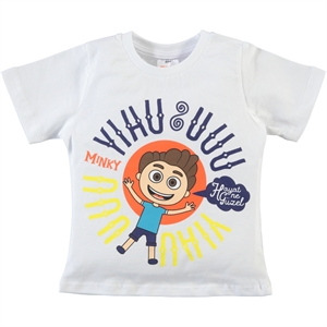 Minky Boy T-Shirt White 2-5 Years