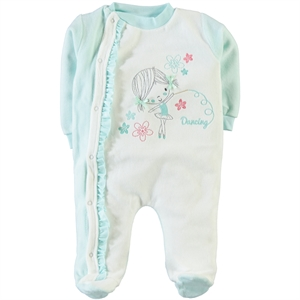 Civil Baby 3-9 Months Baby Girl Mint Green Overalls