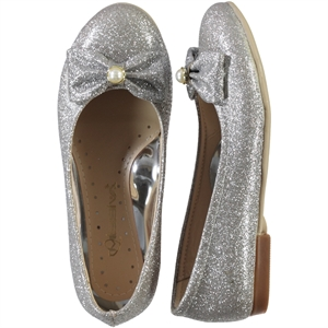 Missiva Girls Gray Ballet Flats 31-36 Number