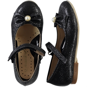 Missiva Numbers 26-30 Girls Black Ballet Flats