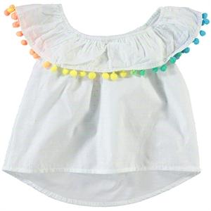 Timo Kız Çocuk Ponponlu Gömlek 6-9 Yaş Yeşil