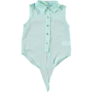 Timo Mint Green Shirt Boy Girl 2-5 Years