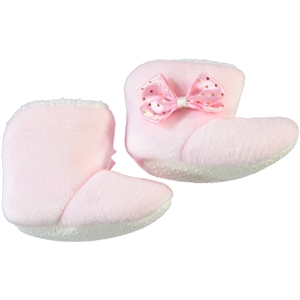 Civil Panduf Baby Girl Booties Pink, 6-18 Months