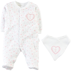 Baby Center 0-6 Months Baby Girl Pink Overalls