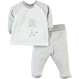 Kiti Kate Baby Boy 0-6 Months Gray Suit