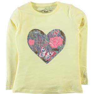 Cvl Age 6-9 Yellow Girl Kids Sweatshirt