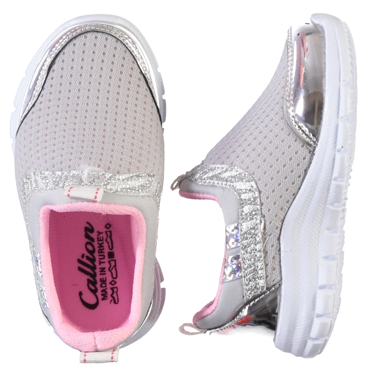 Callion Baby Girl Sneakers Gray 22-25 Number