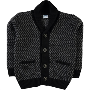Civil Boys Black Cardigan Age 6-9 Boy