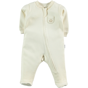 Kiti Kate Organic Combed Cotton Ecru 0-3 Months Overalls Baby Booty Oh