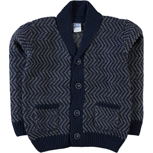 Civil Boys Navy Blue Cardigan Age 6-9 Boy