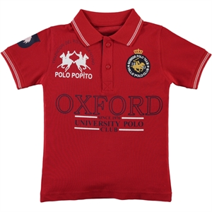 Popito Erkek Çocuk Tişört 6-9 Yaş Kırmızı