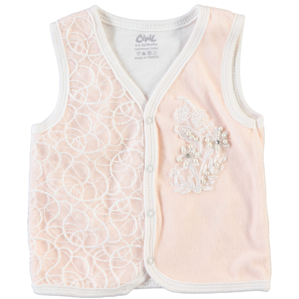 Civil Baby Salmon 3-12 Months Baby Girl Vest
