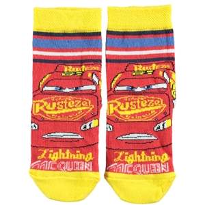 Cars Age 3-9 Yellow Ankle Socks Boy