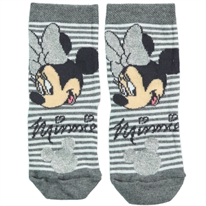 Minnie Mouse Grey Ankle Socks Girls Ages 3-7