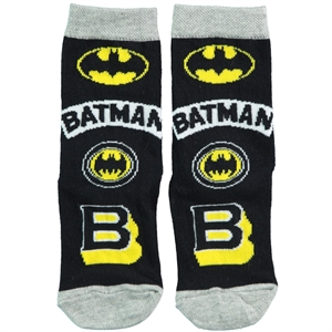 Batman Boy Ankle Socks Black 5-9 Age