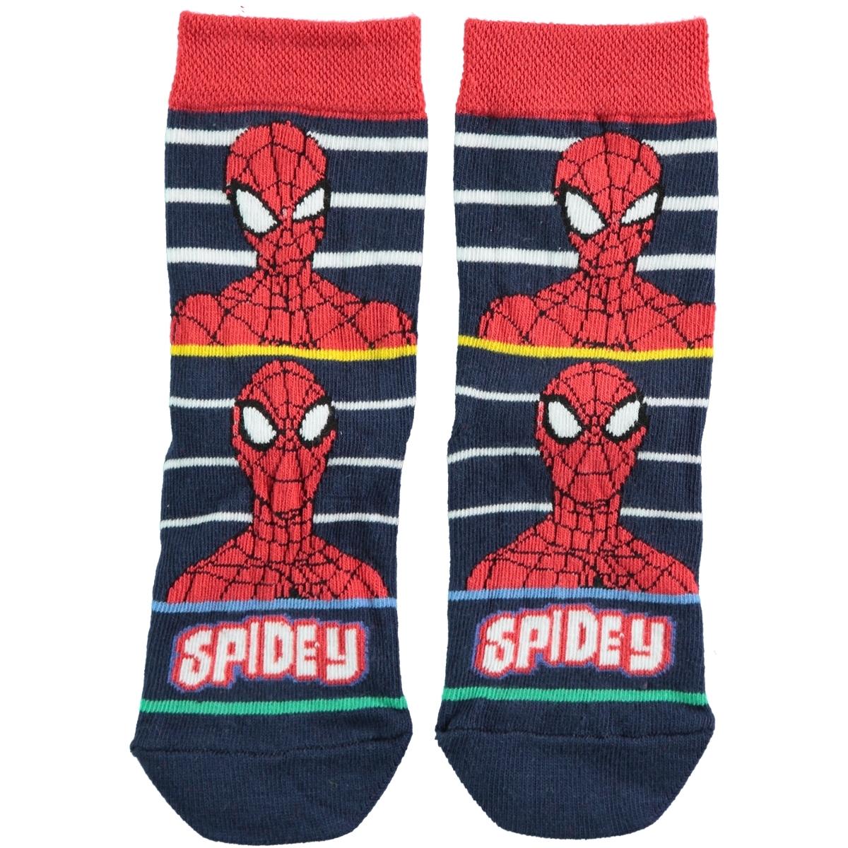 Spiderman Navy Blue Ankle Socks Boy Age 5-9