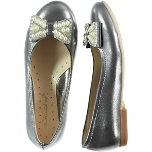 Missiva Number 31-36 Ballet Flats Girls Gray Powder
