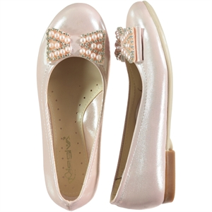 Missiva 31-36 Number Of Girls Ballet Flats Powder-Powder Pink