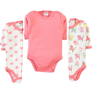 Civil Baby Baby girl 3-way 0-18 months bodysuit with snaps, tongue in cheek
